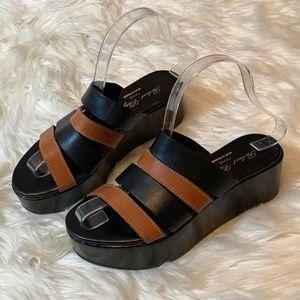 Robert Clergerie Barney's NY Platform slides shoe